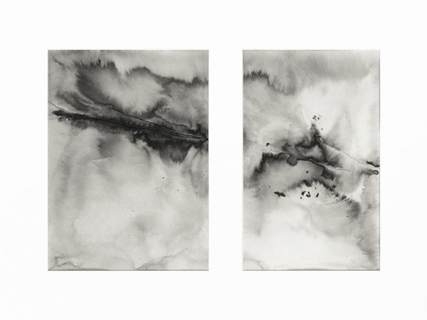 ink & water on paper - 15 x 20,8 & 13 x 20,8 cm - 2020 - only available with frame (30 x 40 cm)