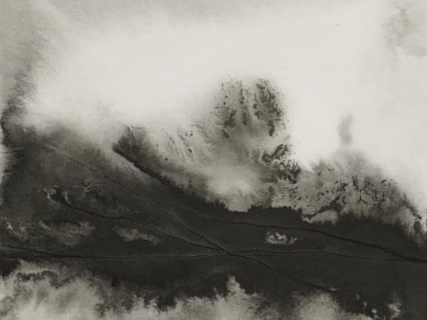ink & water on museum cardboard - 14,5 x 16,5 cm - 2021