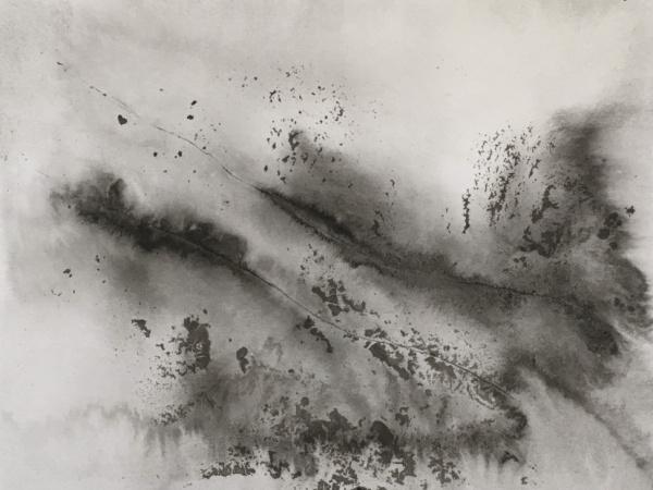 ink & water on museum cardboard - 18 x 23 cm - 2021